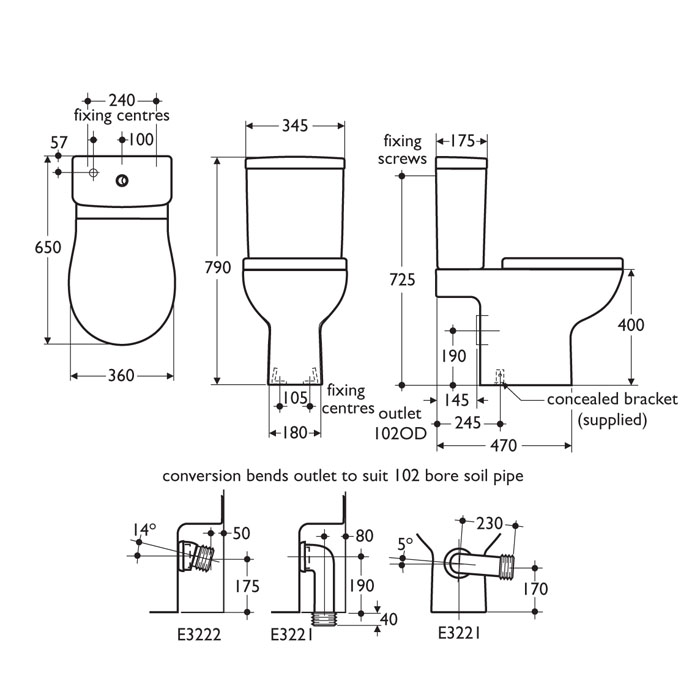 Standard toilet dimensions crowdbuild for for Dimension portillon standard