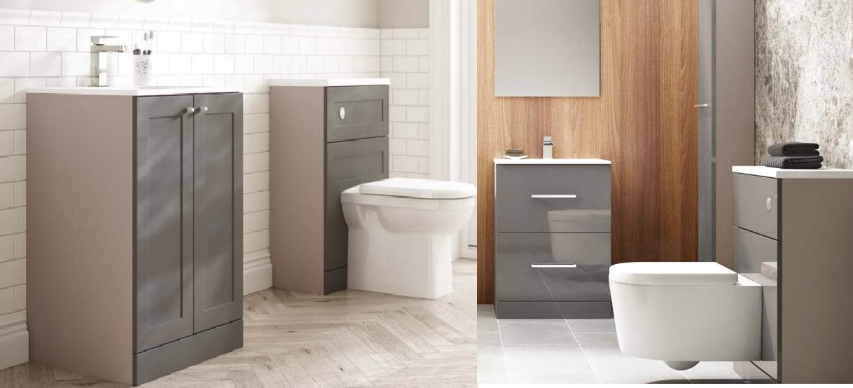 Shades bathroom furniture modular and fitted bathroom units for Prefabricated bathroom cabinets