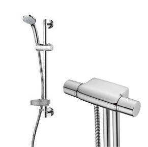 Trevi Boost Ev Shower Set Amp Slide Rail Kit Exposed Chrome
