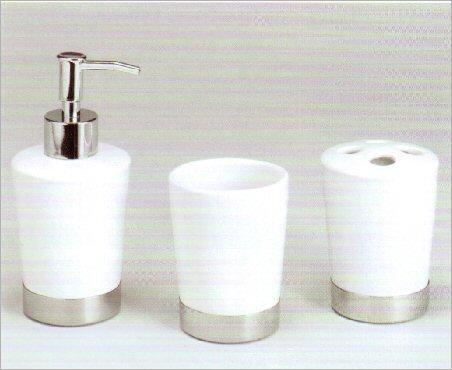 bathroom accessory set white ceramicchrome