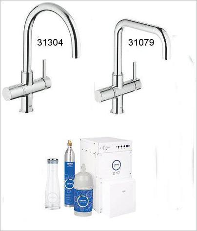 grohe kitchen mixers grohe blue chilled sparkling. Black Bedroom Furniture Sets. Home Design Ideas