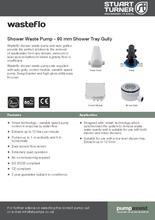 Wasteflo Shower Waste Pump Amp 90mm Shower Gully Tray