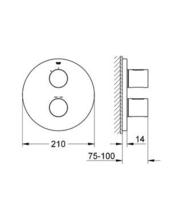 GROHE 118323 G3000 COSMO (round) with Rainshower 210mm Headshower & pencil Handshower